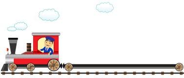 Maestro feliz com vagão vazio ilustração do vetor