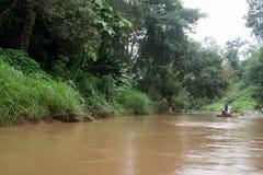 - Maetaeng flod - flödad ritt Royaltyfria Bilder