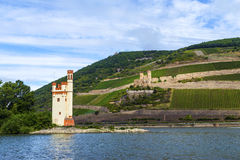 Maeuseturm in Bingen, Germany Stock Photos