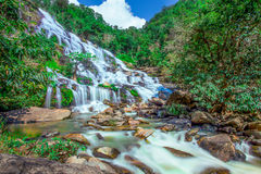 Maeya Waterfall, Chiang Mai, Thailand. Royalty Free Stock Images