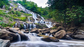 MAEYA Waterfall Famous Cascade Of Chiang Mai, Thailand stock video footage
