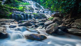 MAEYA Waterfall Famous Cascade Of Inthanon National Park, Chiangmai, Thailand stock footage