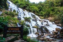 Maeya wody spadek chiangmai Thailand Obraz Stock