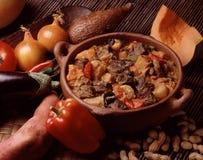牛肉maf花生炖煮的食物 免版税库存图片