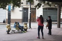 Mafalda pomnikowy punkt zwrotny Buenos Aires zdjęcie stock