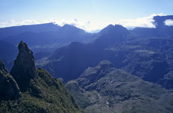 Mafate cirque from Maido, Reunion Island Royalty Free Stock Photo