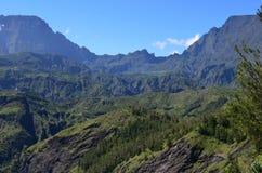 Mafate vulkanisk caldera i ön av Réunion arkivfoto