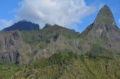 Mafate vulkanisk caldera i ön av Réunion royaltyfria foton