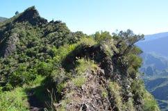 Mafate vulkanisk caldera i ön av Réunion royaltyfria bilder