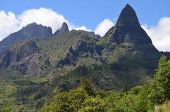 Mafate vulkanisk caldera i ön av Réunion royaltyfri foto