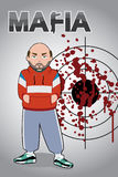 maffian man vektor illustrationer
