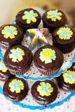 Maffins de Choco Imagenes de archivo