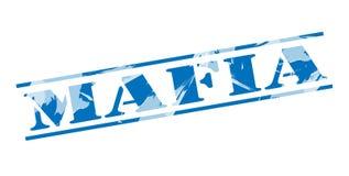 Mafia blue stamp Royalty Free Stock Image