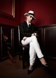 Mafia-bossage femelle Photographie stock