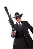 Mafia con el arma acentuado fotos de archivo