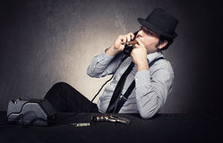 Mafia conversation Stock Images