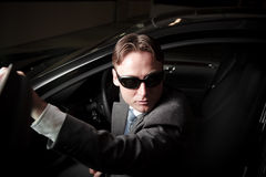 Mafia Driver. Getting out of the car Stock Image