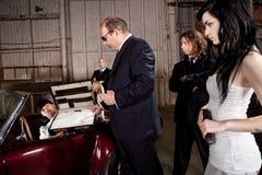 Mafia drug deal Stock Photography