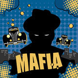 Mafia or gangster background. Abstract mafia or gangster background, color illustration Royalty Free Stock Photo