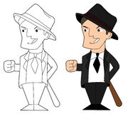 Mafia guy cartoon Royalty Free Stock Photo