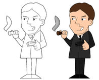 Mafia guy cartoon Royalty Free Stock Images