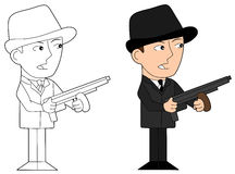 Mafia guy cartoon Stock Photo
