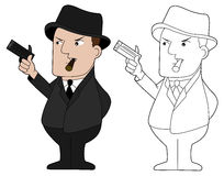 Mafia guy cartoon Stock Photos