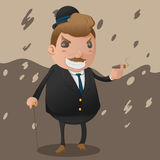 Mafia Man Character Mascot Godfather Vector. Mafia Man Character Mascot Godfather Royalty Free Stock Images