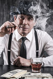 Mafia is not sleeping. Royalty Free Stock Images