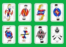 Mafia playing cards Royalty Free Stock Image