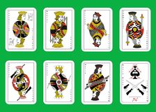 The mafia playing cards. The illustration the set of cards for mafia Stock Photos