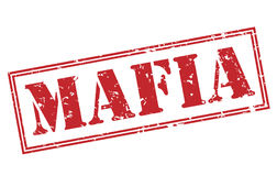 Mafia red stamp. On white background Royalty Free Stock Images