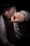 Mafia remains in the shadows Royalty Free Stock Images