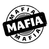 Mafia rubber stamp. Grunge design with dust scratches. Effects can be easily removed for a clean, crisp look. Color is easily changed Royalty Free Stock Images