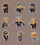 Mafia stickers Royalty Free Stock Image
