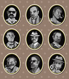 Mafia stickers. Cartoon vector illustration Royalty Free Stock Image