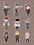 Mafia stickers Royalty Free Stock Photography