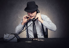 Mafia talk Stock Images