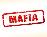 Mafia text buffered Stock Image