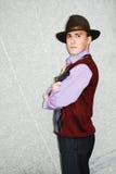 Mafia type with revolver. Stock Photos