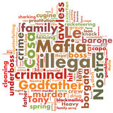 Mafia words Royalty Free Stock Photos