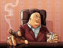 Mafijny szef royalty ilustracja