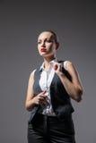 Mafiosi woman. Fashion photo. Retro style Stock Photos
