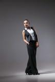 Mafiosi woman. Fashion photo. Retro style Royalty Free Stock Photo