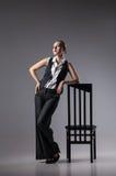 Mafiosi woman. Fashion photo. Retro style Royalty Free Stock Images