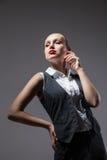 Mafiosi woman. Fashion photo. Retro style Royalty Free Stock Image