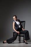 Mafiosi woman. Fashion photo. Retro style Royalty Free Stock Photos