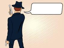 Mafioso with Gun Stock Photo