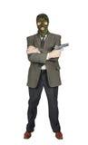 Mafioso with a handgun Royalty Free Stock Photography