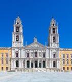 Mafra全国宫殿、女修道院和大教堂在葡萄牙 库存照片